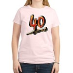 40th birthday & still hot Women's Pink T-Shirt