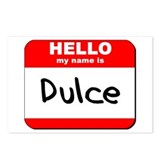Hello my name is Dulce Postcards (Package of 8)