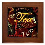 Tea Dark Framed Tile