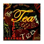 Tea Dark Tile Coaster