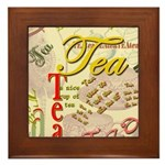 Tea Framed Tile