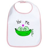 Cute Peas in a pod Bib