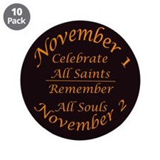 "All Saints, All Souls 3.5"" Button (10 pack)"