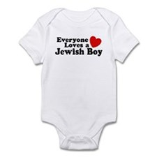 Everyone loves a Jewish Boy Infant Creeper