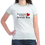 Everyone loves a Jewish Boy Jr. Ringer T-Shirt