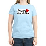 Everyone loves a Jewish Boy Women's Pink T-Shirt