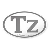 TZ Oval Sticker (10 pk)