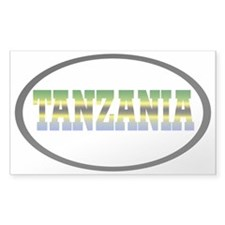 TANZANIA1 Rectangle Decal
