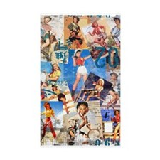 Cowgirl Pin-Ups No.1 Rectangle Sticker 50 pk)