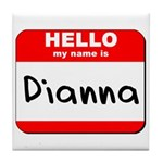 Hello my name is Dianna Tile Coaster
