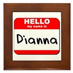 Hello my name is Dianna Framed Tile