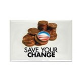 save your change Rectangle Magnet (10 pack)