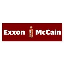 Exxon McCain Bumper Bumper Sticker