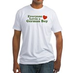 Everyone Loves a German Boy Fitted T-Shirt