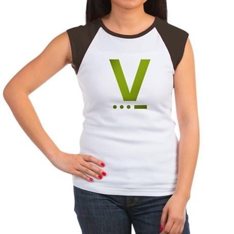 V for Victory Olive - Women's Cap Sleeve T-Shirt