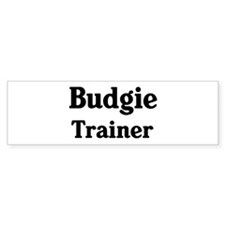 Budgie trainer Bumper Car Sticker