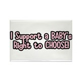 Baby's Right: Pro Life Rectangle Magnet