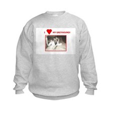 Sweatshirt - I LOVE MY GREYHOUND