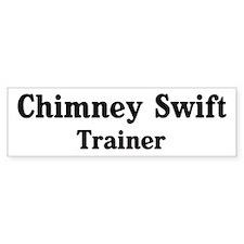 Chimney Swift trainer Bumper Sticker (50 pk)