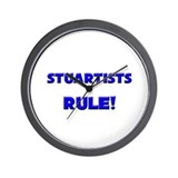Stuartists Rule! Wall Clock