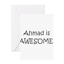 Unique I love ahmad Greeting Card