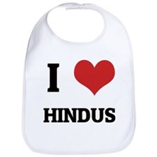I Love Hindus Bib