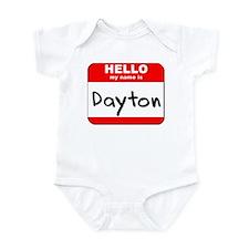 Hello my name is Dayton Infant Bodysuit