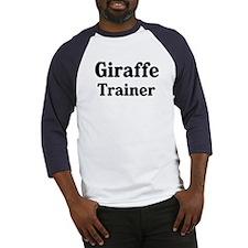 Giraffe trainer Baseball Jersey