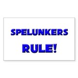 Spelunkers Rule! Rectangle Decal