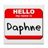Hello my name is Daphne Tile Coaster