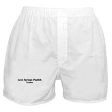 Leon Springs Pupfish trainer Boxer Shorts