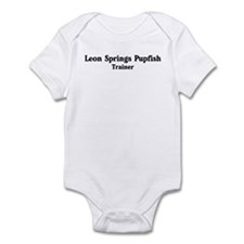 Leon Springs Pupfish trainer Infant Bodysuit