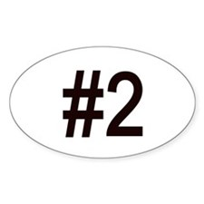 #2 birth order baby number two Oval Decal