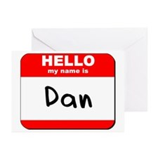 Hello my name is Dan Greeting Cards (Pk of 20)