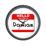 Hello my name is Damian Wall Clock