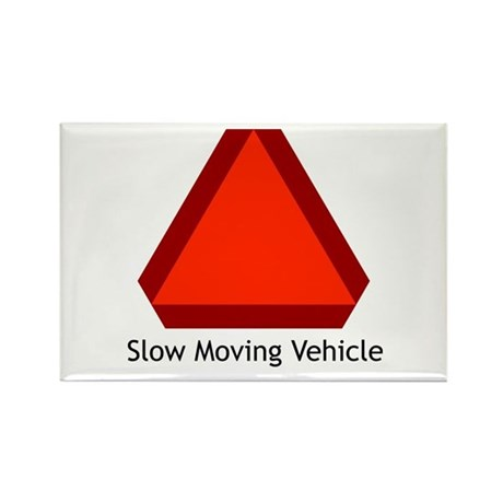 Slow Moving Vehicle Sign - Rectangle Magnet