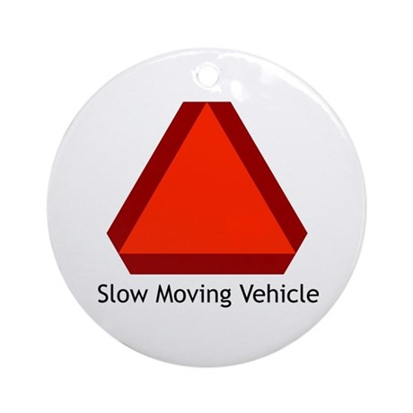 Slow Moving Vehicle Sign - Keepsake (Round)