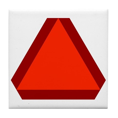 Slow Moving Vehicle Sign - Tile Coaster