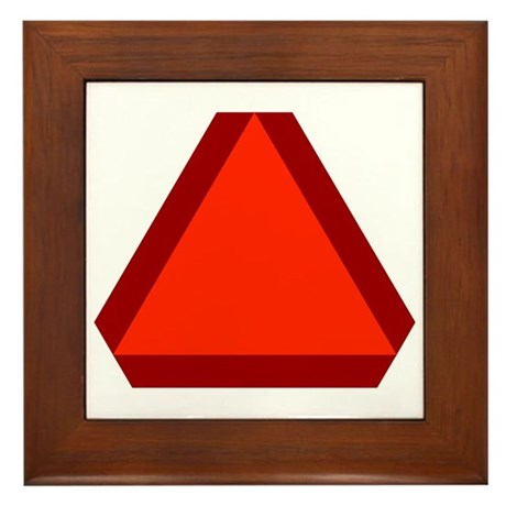 Slow Moving Vehicle Sign - Framed Tile