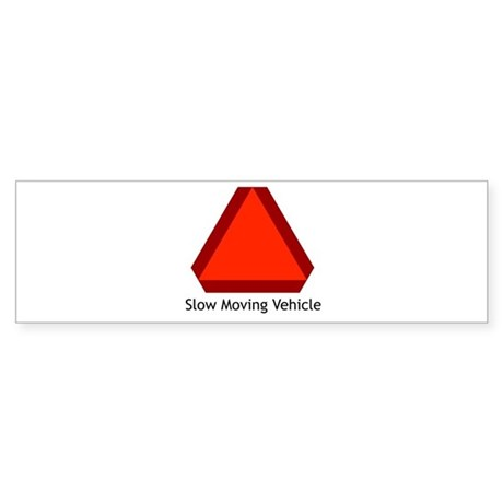 Slow Moving Vehicle Sign - Bumper Sticker