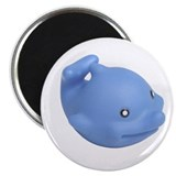 Friendly Rubber Dolphin Magnet