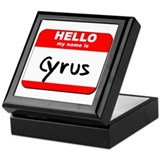 Hello my name is Cyrus Keepsake Box
