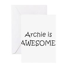 Unique Archie Greeting Card