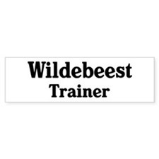 Wildebeest trainer Bumper Car Sticker