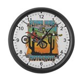 Flying High Motocross Large Wall Clock