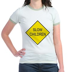 Slow Children Sign Jr. Ringer T-Shirt