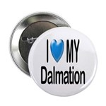 I Love My Dalmation Button