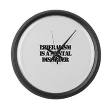 Funny Mccain palin Large Wall Clock