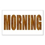 Rising and Shine Rectangle Sticker 50 pk)