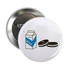 "Oreos and Milk 2.25"" Button (10 pack)"